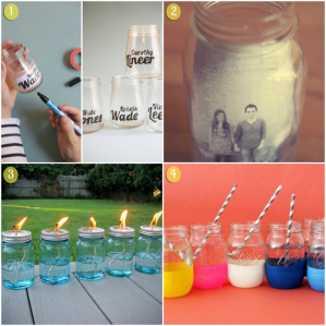 DIY- upcycled jars