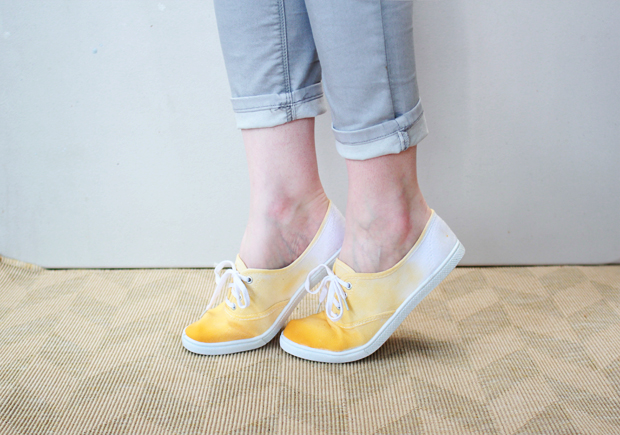 DIY Dip-Dyed Shoes