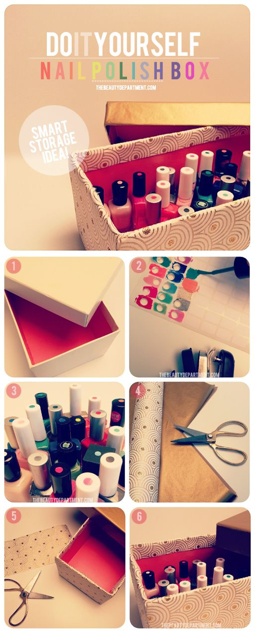 Diy nail polish box best diy tricks for Diy shoes with nail polish
