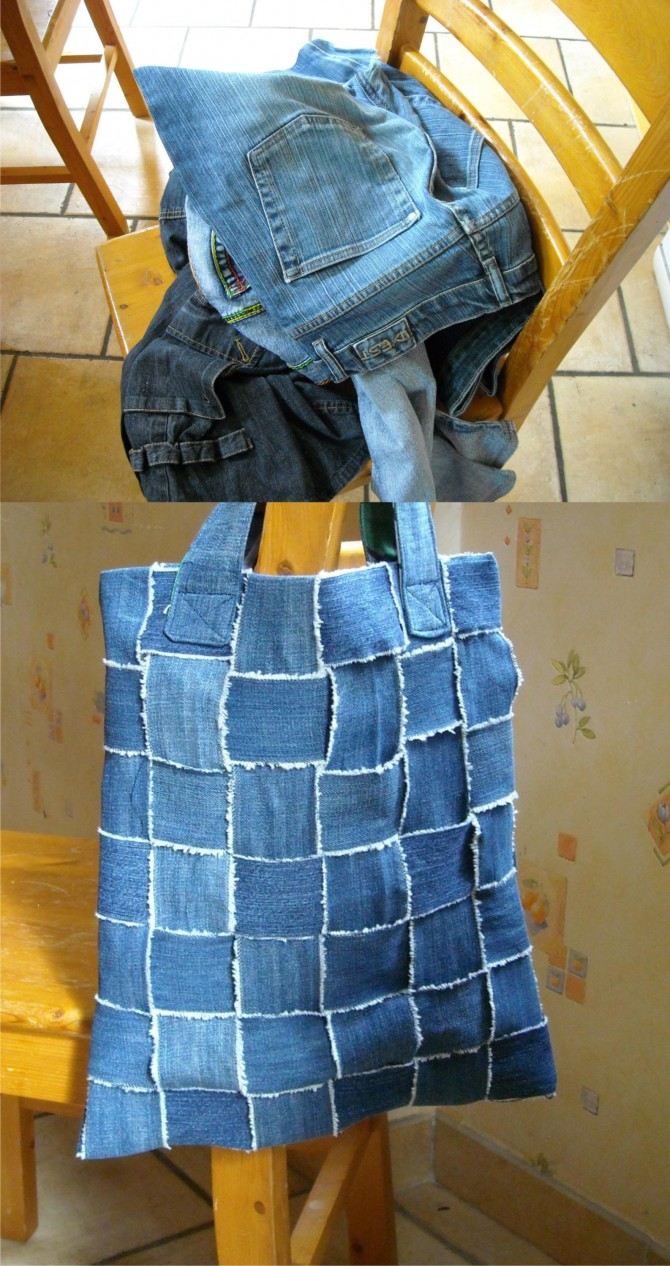 Old Jeans Turned Into Bag