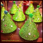Glittered Tree Ornaments