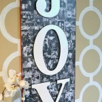 Holiday Craft Project: JOY Photo Collage