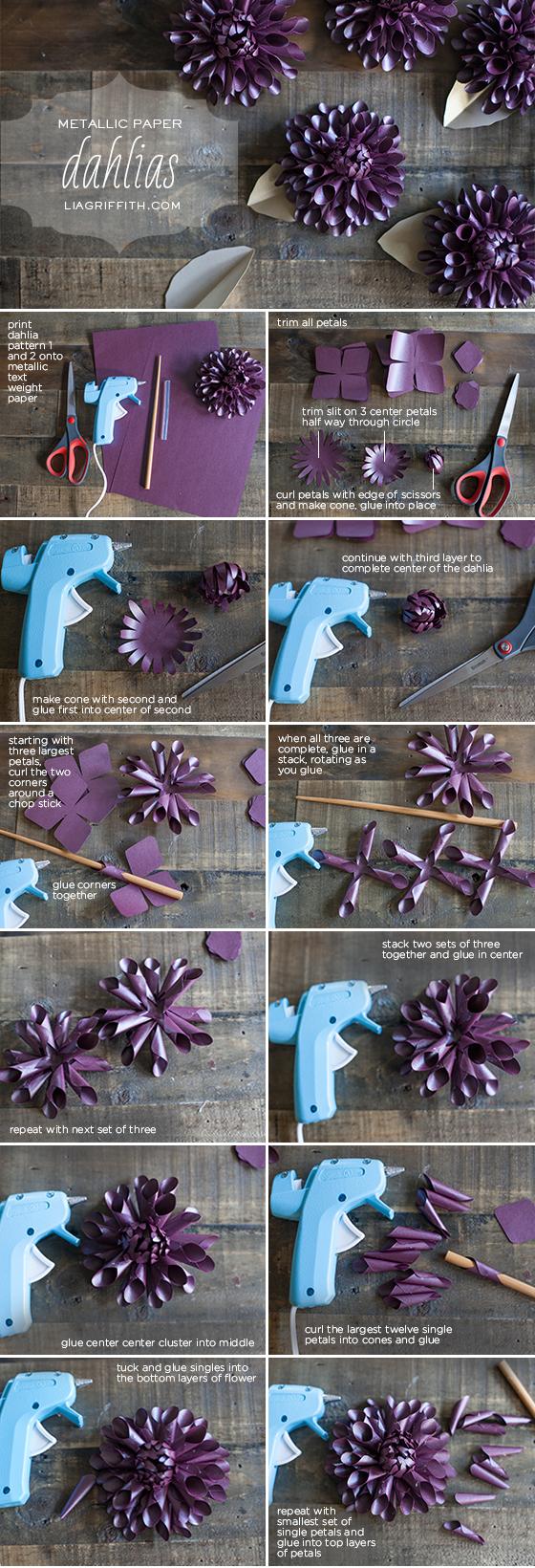 Make a Paper Dahlia for Fall